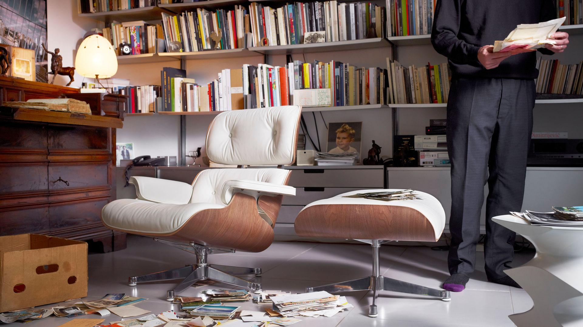 vitra lounge chair ottoman. Black Bedroom Furniture Sets. Home Design Ideas