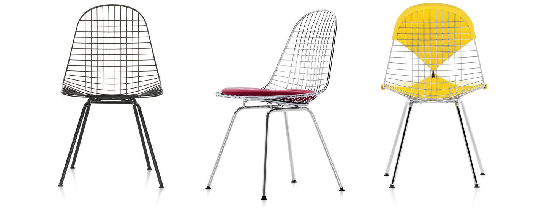 Vitra Wire Chair Dkx Outdoor Phone Line Wiring Der Von Charles Und Ray Eames Ist Auf Wunsch Mit Sitzpolster Oder Einer Kombination Sitz Rckenpolster Dem So Genannten Bikini