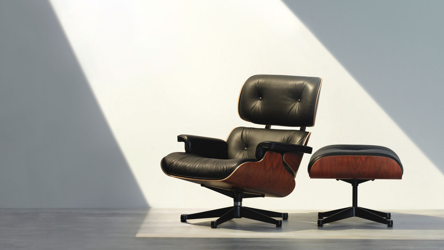 vitra das original kommt von vitra lounge chair. Black Bedroom Furniture Sets. Home Design Ideas