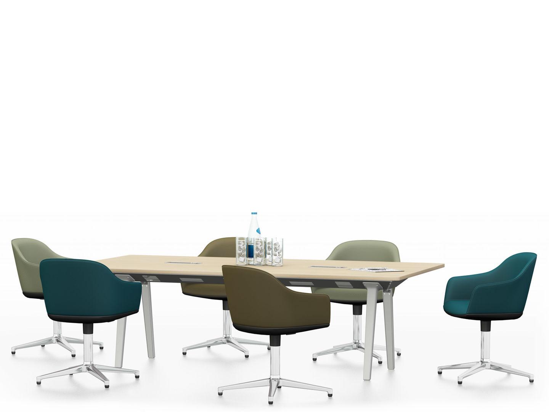 Lounge furniture - Vitra Joyn Single Bench 240 X 120 Cm Softshell Chair