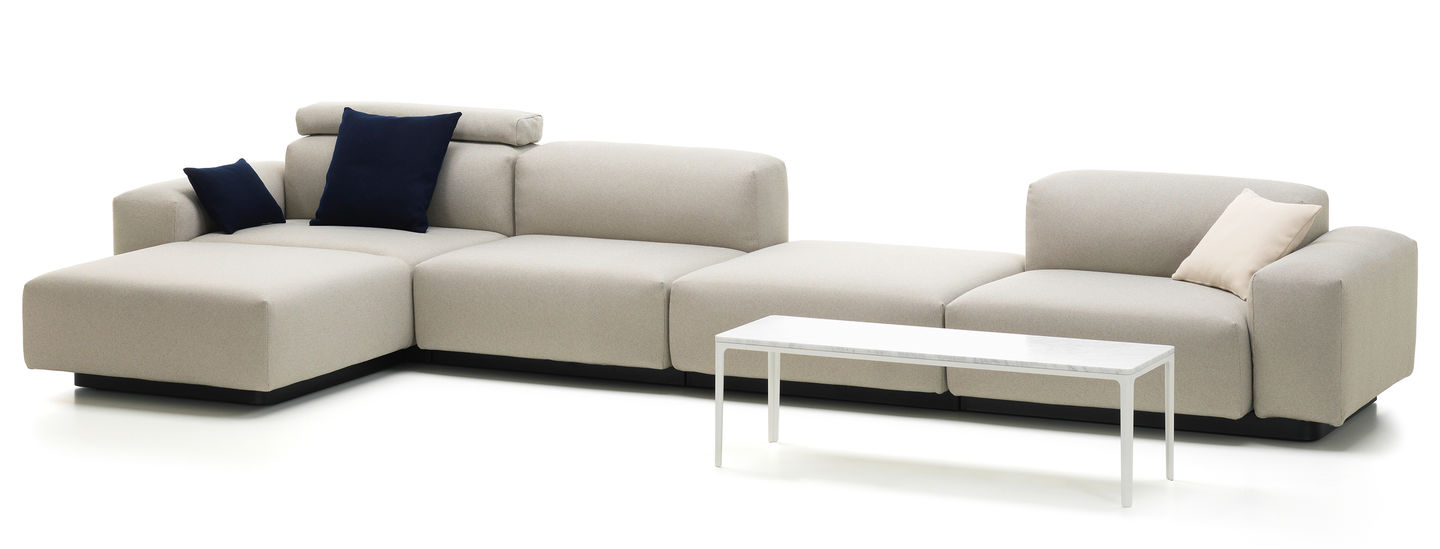 Vitra soft modular sofa four seater platform chaise for 4 seat sectional sofa chaise