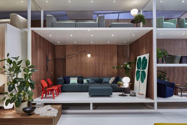 Vitra vitra at the salone del mobile for Stand salone del mobile