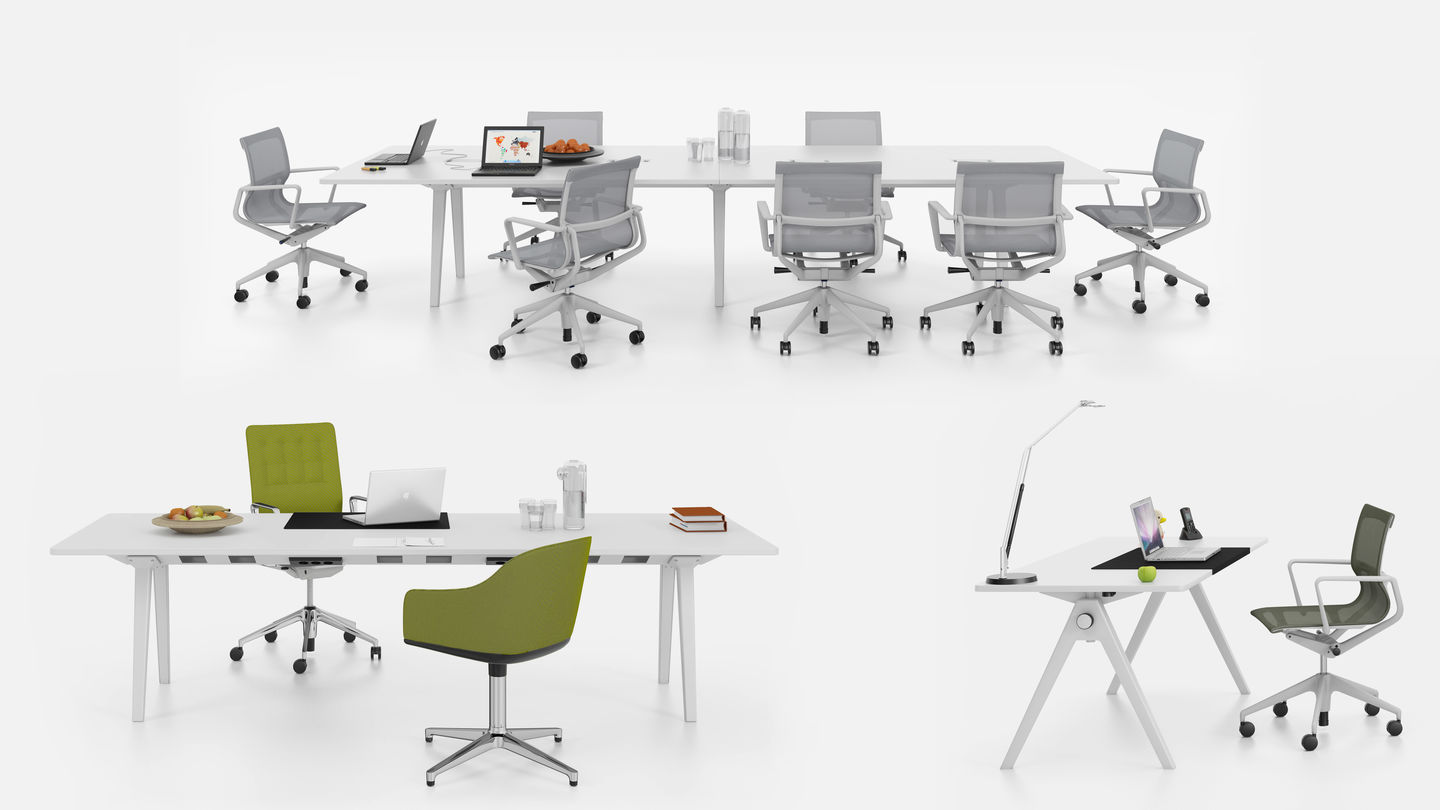 Vitra | Joyn - Single and Conference Bench complete the range.