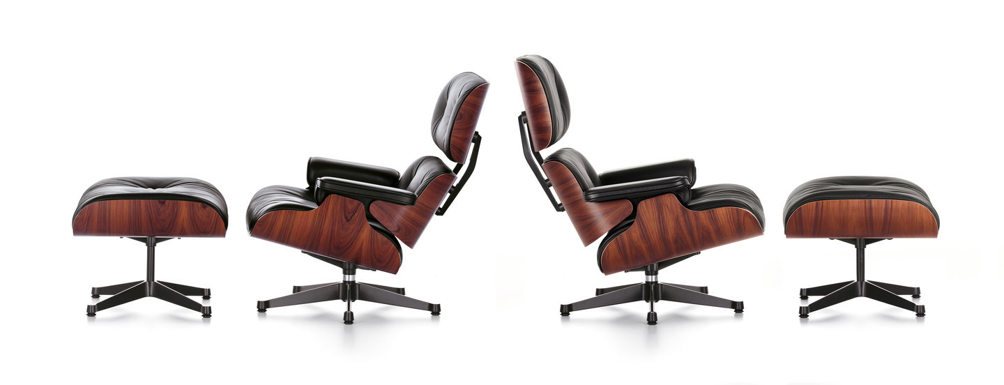 Lounge Chair  Charles   Ray Eames  1956Vitra   Lounge Chair. Eames Lounge Chair And Ottoman Walnut Frame Standard Leather. Home Design Ideas