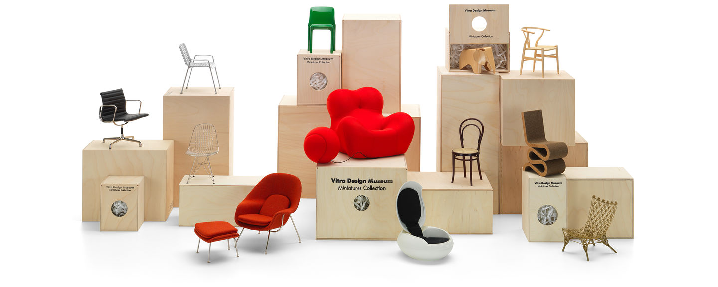 Vitra miniatures collection for Mini designer chairs