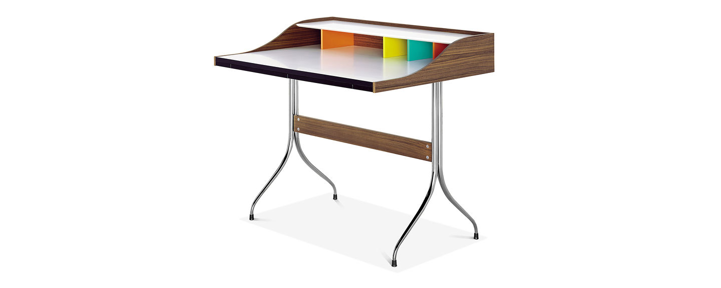 High Quality Materials Emphasise The Graceful Refinement Of Home Desk By George Nelson Originally Designed In 1958 As A Lady S Writing Table