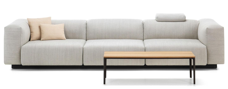 Vitra soft modular sofa three seater for Modular sectional sofa with storage
