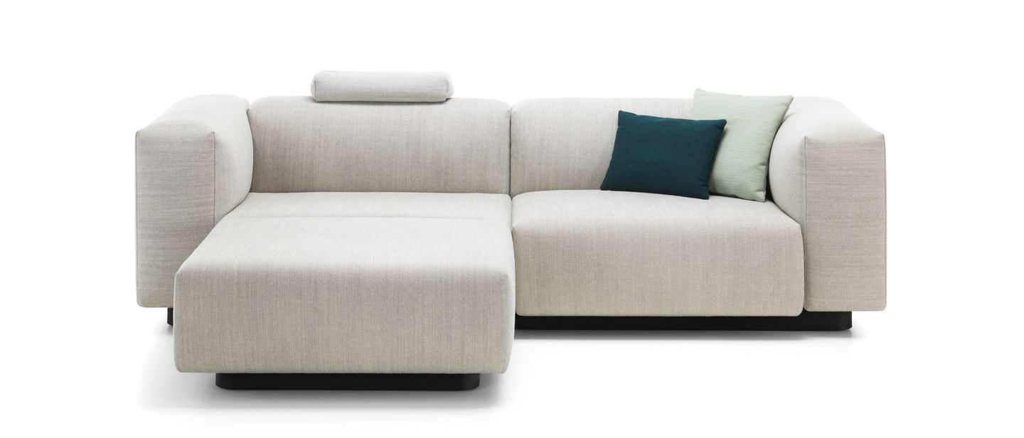 Vitra soft modular sofa two seater chaise longue for 2 seater lounge with chaise