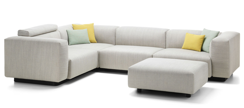 vitra soft modular sofa three seater corner element ottoman. Black Bedroom Furniture Sets. Home Design Ideas