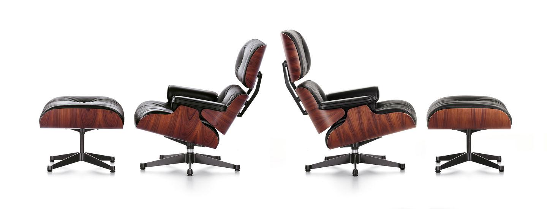 Vitra lounge chair amp ottoman white version von charles amp ray eames - Lounge Chair Charles Ray Eames 1956