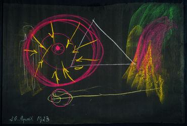 01_Rudolf Steiner, blackboard drawing, 20 Apr