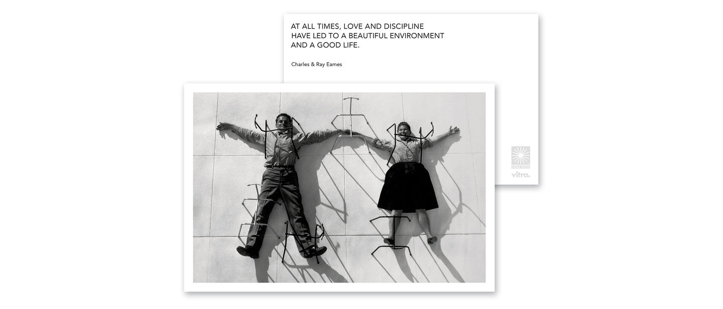 Vitra eames quotes greeting cards love and discipline the eames quotes greeting cards capture the philosophy of charles and ray eames and express their insights into design issues m4hsunfo