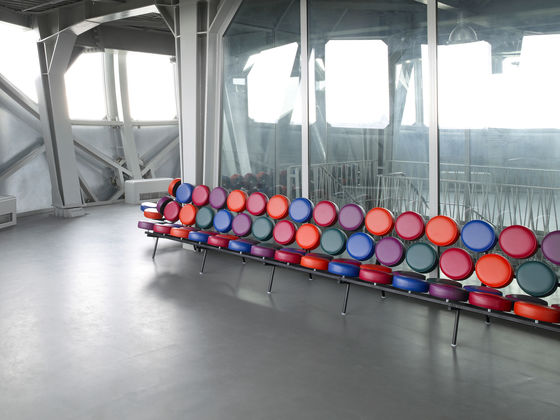 George Nelsonu0027s Marshmallow Sofa Transforms The Traditional Sofa Into A  Playful Three Dimensional Object With Eighteen Colourful Cushions Attached  To A ...