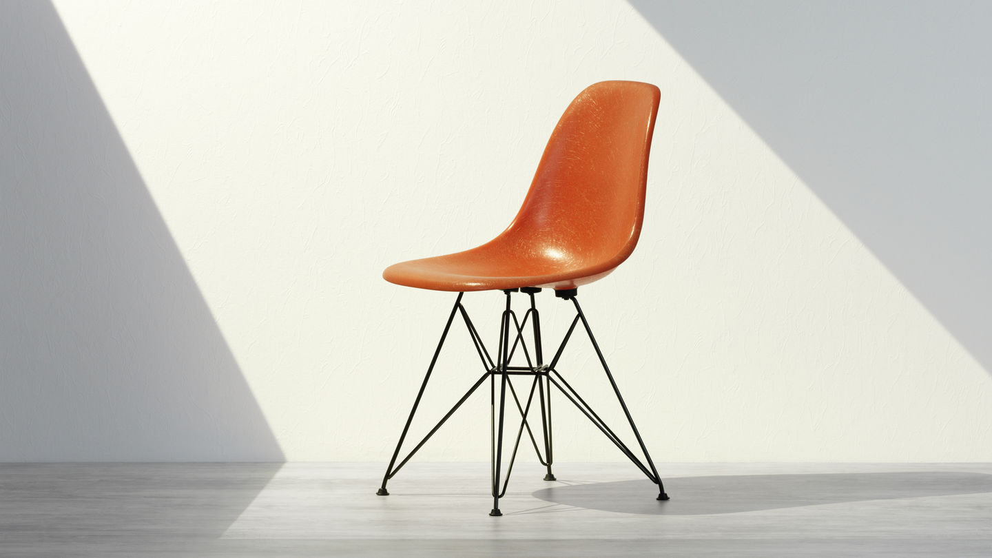 Orange Color Dining Chair