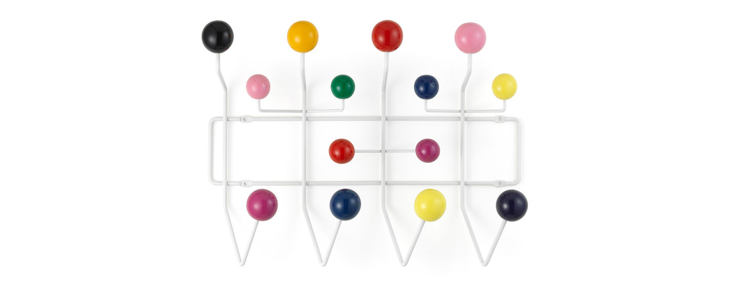 vitra  hang it all - the 'hang it all' coat rack designed by charles and ray eames which comesin a variety of colour combinations encourages children to literally hangup all