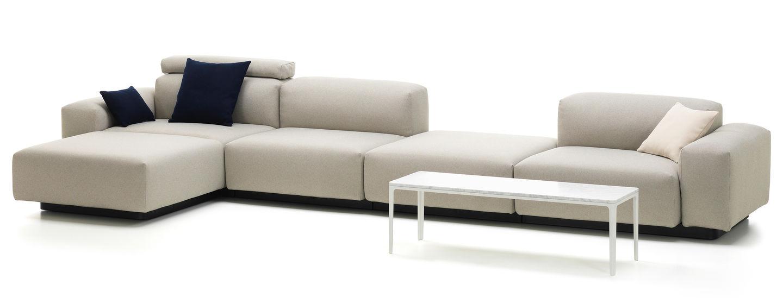 Vitra Soft Modular Sofa Four Seater Platform Chaise