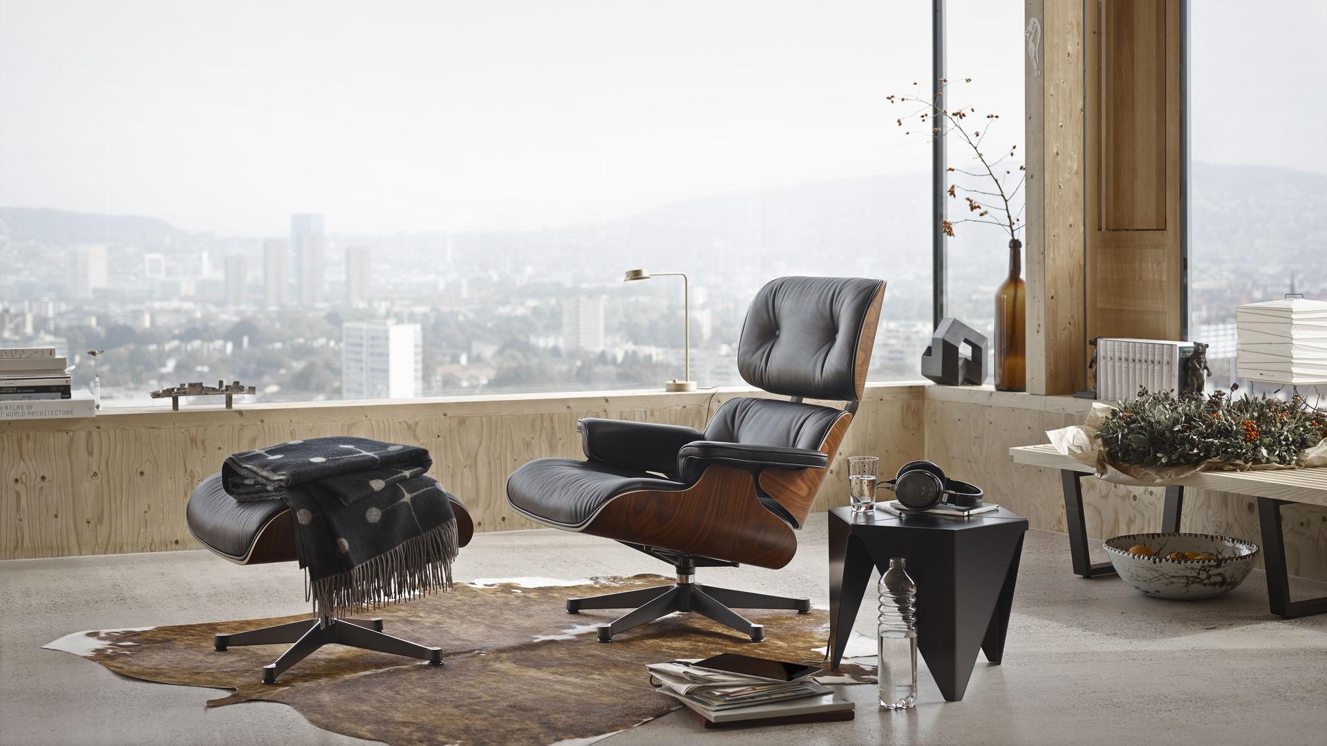 Eames Lounge Stoel.Vitra Lounge Chair Ottoman