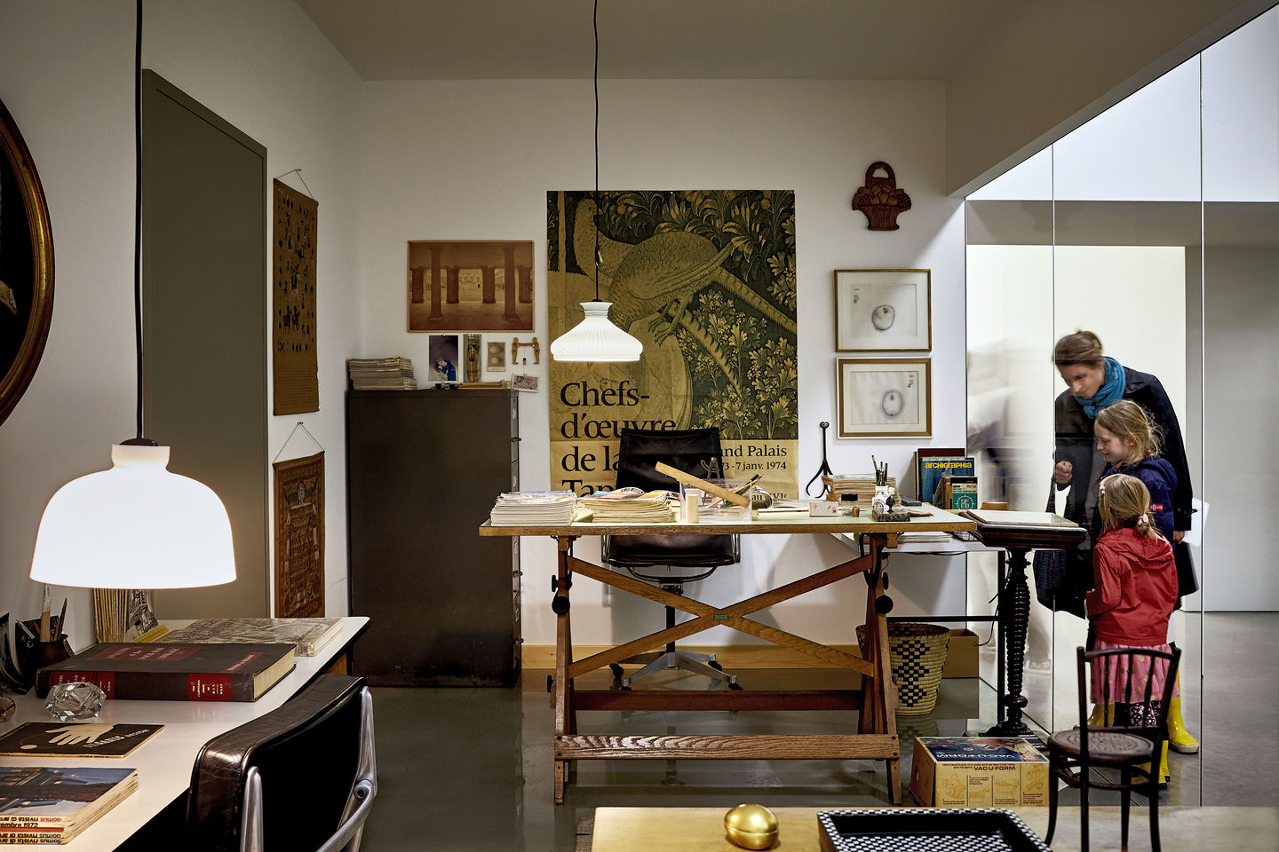 the eames office. the chair in charles eamesu0027 office eames