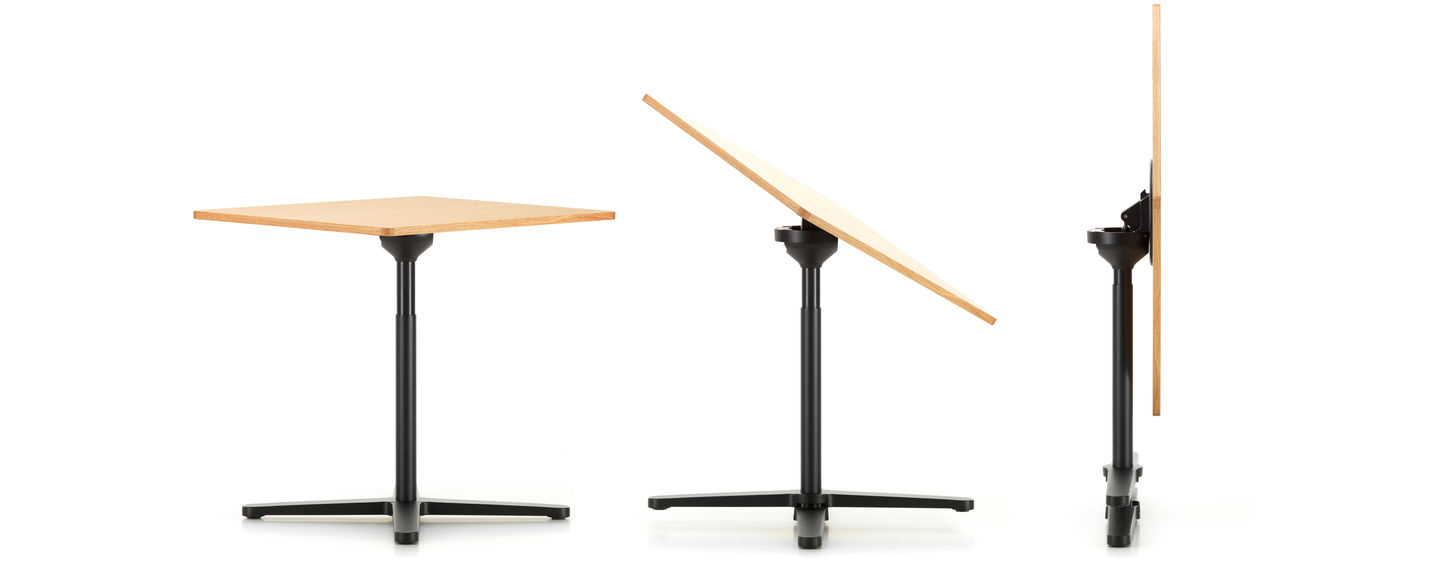 The Super Fold Table By Jasper Morrison Folds Up Completely With A Single Movement Of Hand And Legs Four Star Base Are Also Rotated