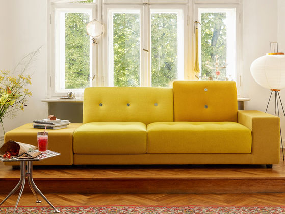 vitra polder - Yellow Couch
