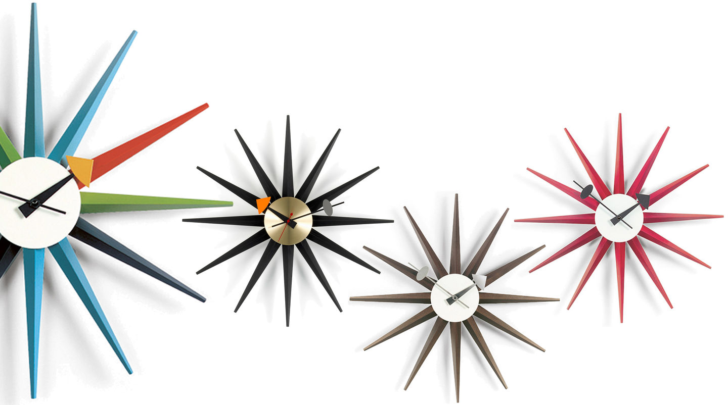 vitra wall clocks sunburst clock. Black Bedroom Furniture Sets. Home Design Ideas