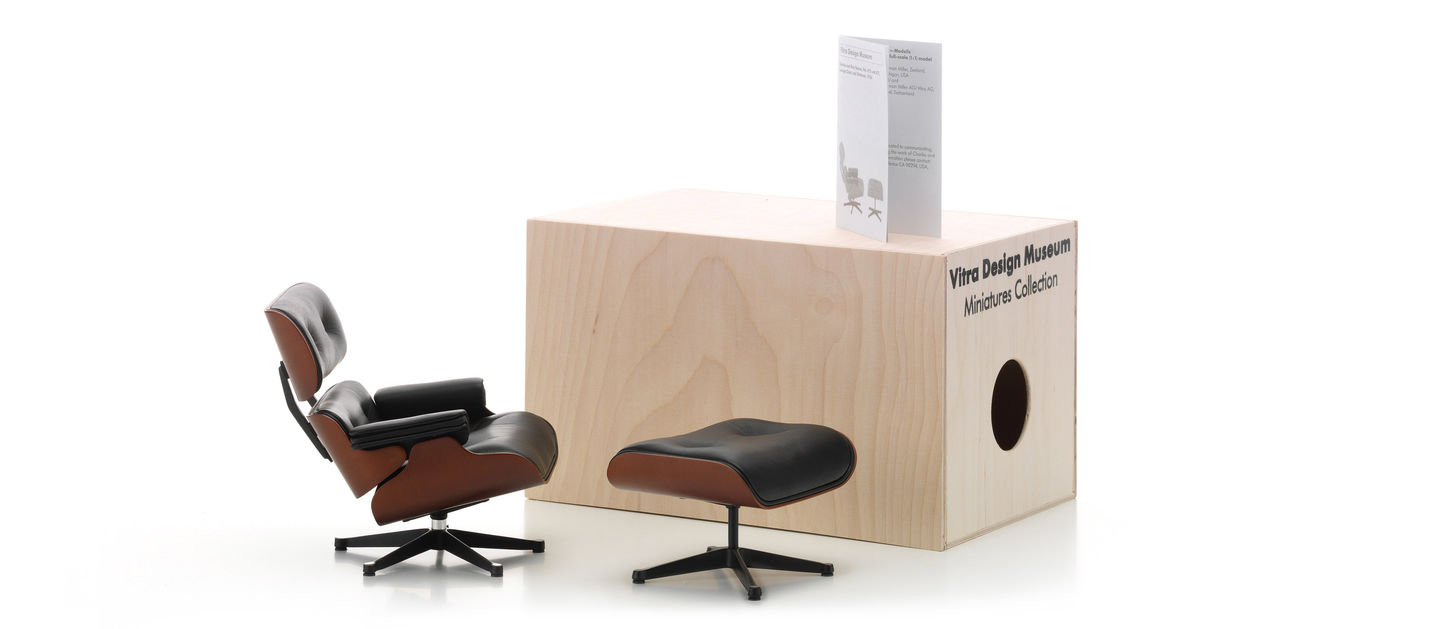 Astonishing Vitra Miniatures Lounge Chair Ottoman Inzonedesignstudio Interior Chair Design Inzonedesignstudiocom