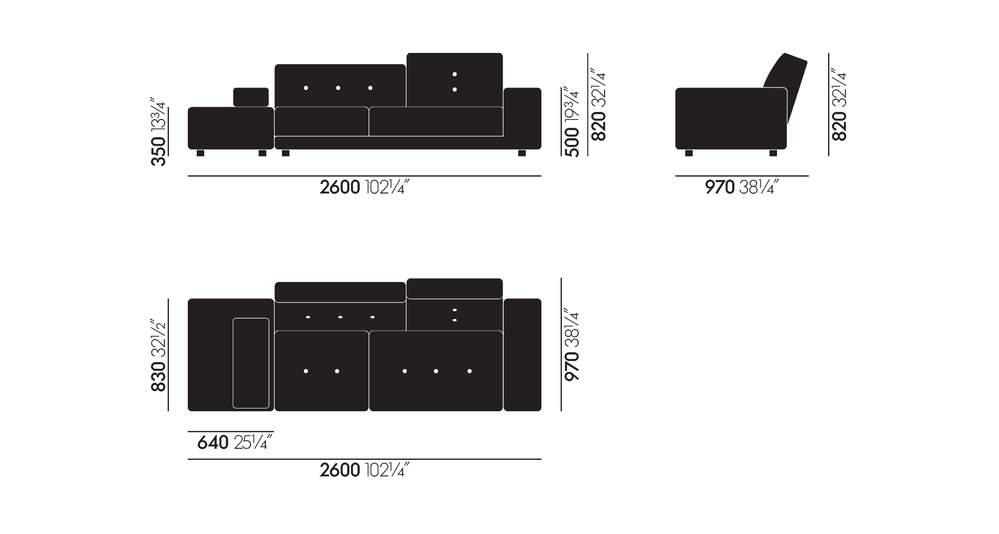Risultati immagini per vitra polder sofa dimension