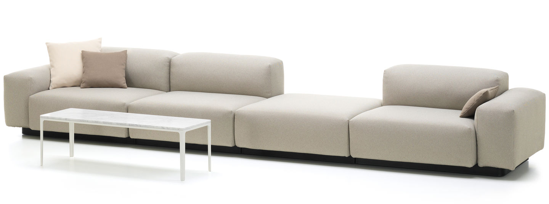 vitra soft modular sofa four seater platform. Black Bedroom Furniture Sets. Home Design Ideas