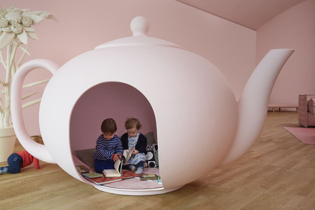 alice in wonderland furniture. following the dream-like theme of alice\u0027s wonderland, india mahdavi plays with size proportions in her installation. alice drinks a wonderland furniture
