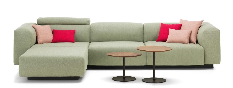 Vitra soft modular sofa de tres plazas chaise longue for Sofa 2 plazas chaise longue