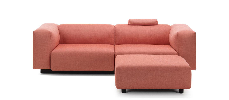 Vitra soft modular sofa de dos plazas ottoman for Sofas de dos plazas
