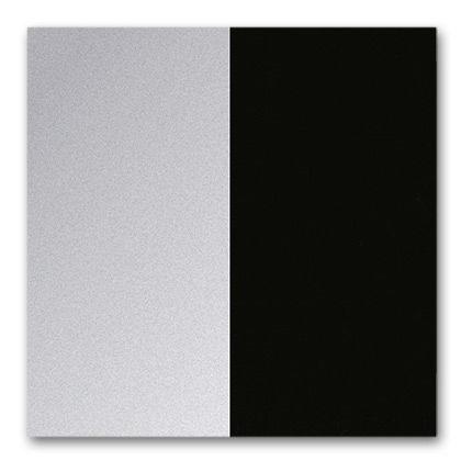 03/12 aluminio pulido/negro oscuro revestimiento en polvo (liso)