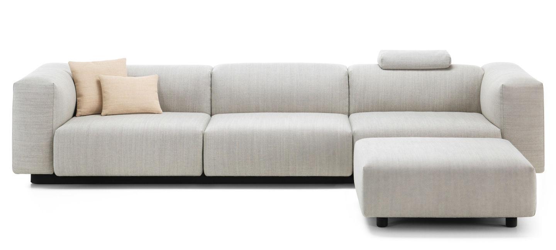 Vitra Soft Modular Sofa Trois Places Ottoman