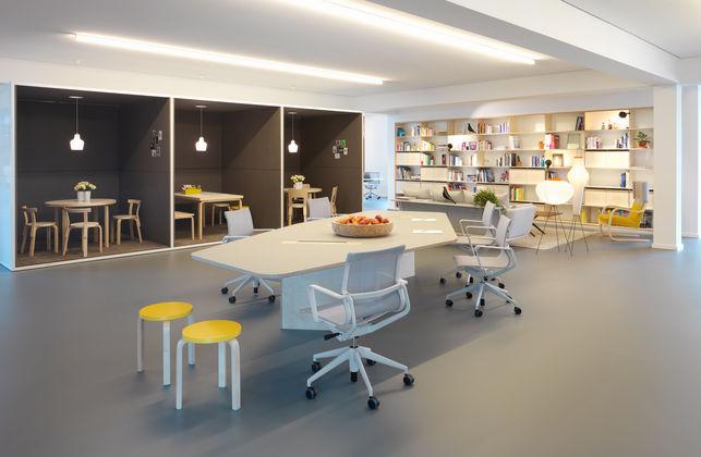 studio office sevil peach creates a new office for vitra