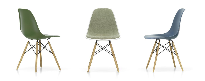 Eames Stoel Houten Poten.Vitra Eames Plastic Side Chair Dsw