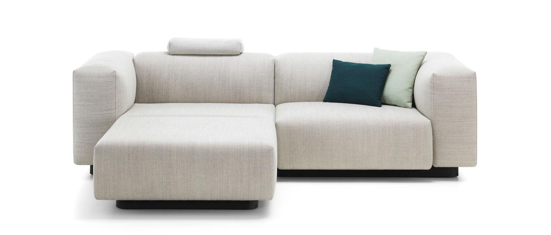 Vitra soft modular sofa tweezitsbank chaise longue for Sofa 5 plazas chaise longue